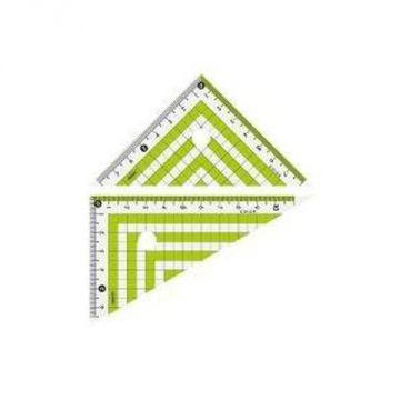 Prosperity Plastic Color Triangle Ruler Green 16048 CPK-120-G