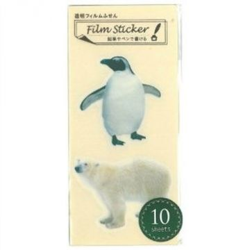 Nakabayashi Transparent Film Sticky Penguin Polar Bear NC-FSN-027