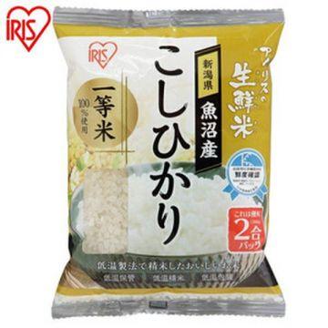 IRIS Fresh Koshihikari Rice from Uonuma in Niigata Prefecture, 2 Packs, 300g