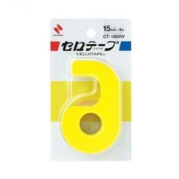 Nichiban Cellophane Tape Komaki Yellow with Cutter 19268 CT-15Dry