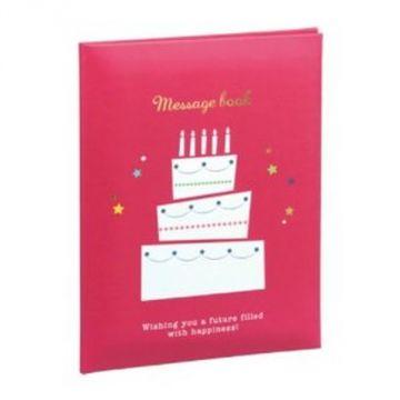 Nakabayashi Message Book MBB6-301-R, B6, Red