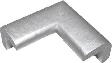 Trusco Nakayama Safe Cushion Corner TAC-125, Small, Silver