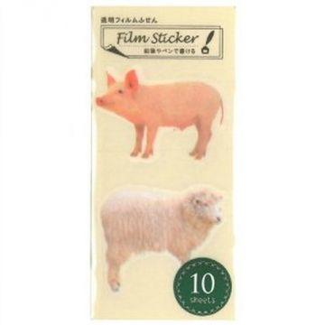 Nakabayashi Transparent Film Sticky Pig Sheep NC-FSN-025