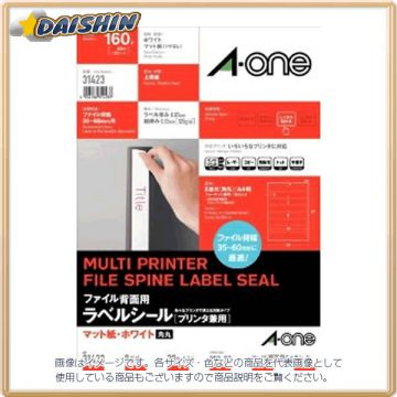 A-One File Back Label 190X30mm 8 Face 379390