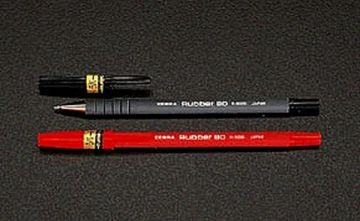 ESCO Ballpoint Pen EA765BH-2, 10 Pieces, 0.7mm, Red
