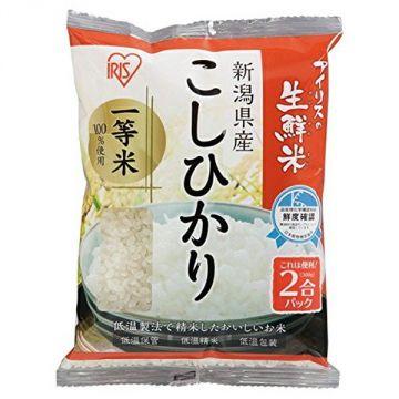 IRIS Fresh Koshihikari Rice from Niigata Prefecture, 2 Packs, 300g