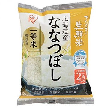 IRIS Fresh Nanatsuboshi Rice from Hokkaido Prefecture, 2 Packs, 300g