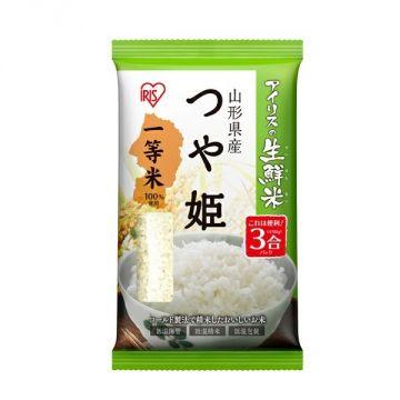 IRIS Fresh Tsuyahime Rice from Yamagata Prefecture, 3 Packs, 450g