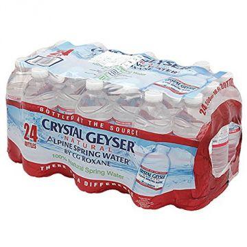 IRIS Crystal Geyser Alpine Spring Water 500ml, 24 Bottles