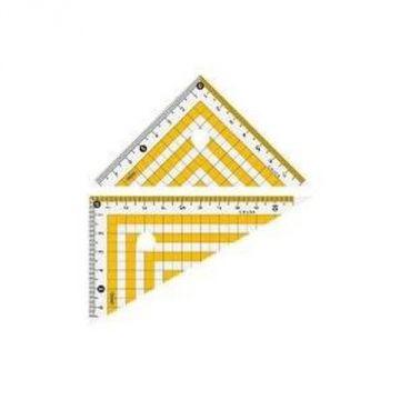 Prosperity Plastic Color Triangle Ruler Yellow 16049 CPK-120-Y
