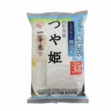 IRIS Fresh 'No-wash' (Musenmai) Tsuyahime Rice from Yamagata prefecture, 3 Packs, 450g