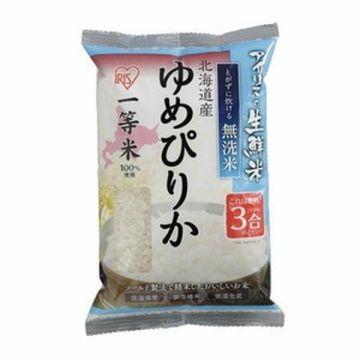 IRIS Fresh 'No-wash' (Musenmai) Yumepirika Rice from Hokkaido Prefecture, 3 Packs, 450g