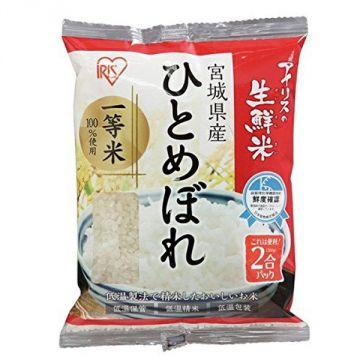 IRIS Fresh Hitomebore Rice from Miyagi Prefecture, 2 Packs, 300g