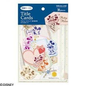 Nakabayashi Title Card Pocket Case Yili, Mickey ATC-D101-1