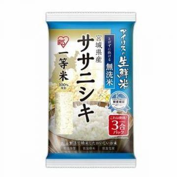IRIS Fresh 'No-wash' (Musenmai) Sasanishiki Rice from Miyagi prefecture, 3 Packs, 450g