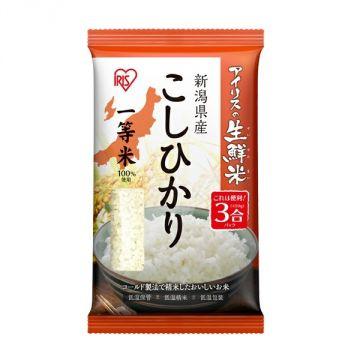 IRIS Fresh Koshihikari Rice from Niigata Prefecture, 3 Packs, 450g