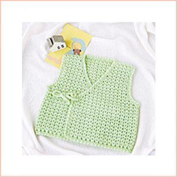 Hamanaka Handmade Baby Clothes Kit, Lime Green Baby Bodice (for Hamanaka Cute Baby)