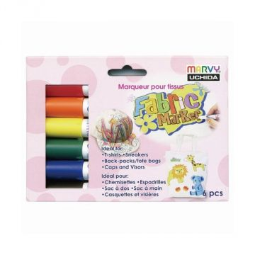 Marvy Fabric Marker 6 Colors Set 560-6A