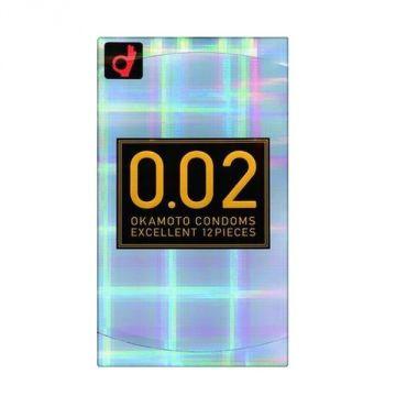 Okamoto Condoms Zero Two 0.02 EX 12 Pieces, Regular Size
