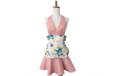 Flower Pattern Limited Edition Apron, Rose