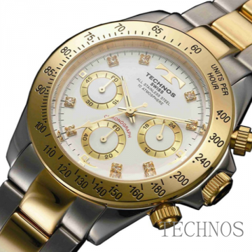 Technos Crystal 8P Chrono Club Combination TGM640TW/TGM640TB