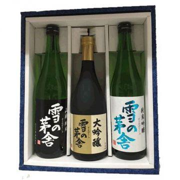 Snow Refrigerated Saiya Junmai Ginjo and Daiginjo Sake in a Gift Box 720mlx 3 Bottles (alc.16%)