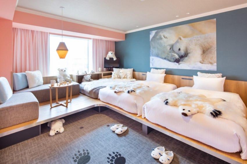 北極熊伴你入睡!?星野集團OMO7旭川推出全新北極熊主題房,把整個旭川動物園北極熊專區搬進房間