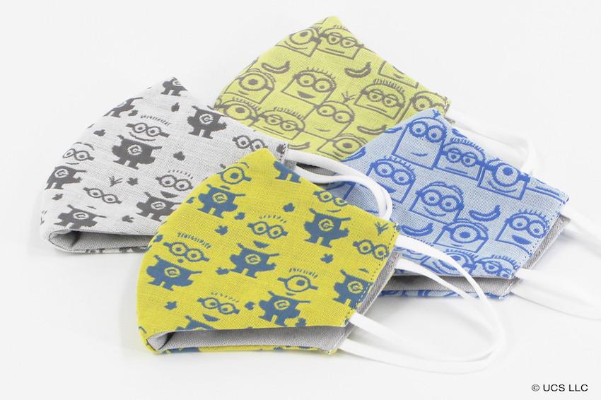 超萌小小兵來了!可愛圖案+機能布料打造的小小兵口罩,日本全國毛巾美術館發售中