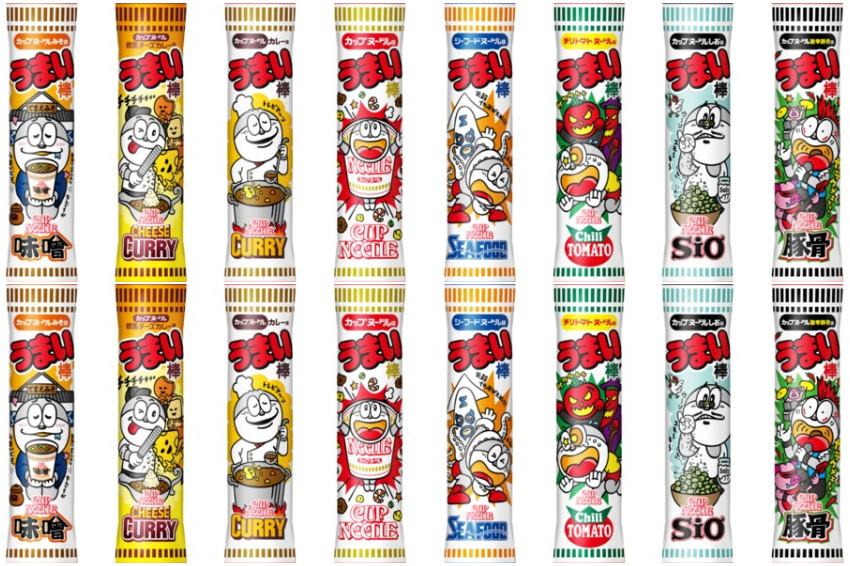 日本國民零嘴「美味棒」X杯麵始祖「日清杯麵」!超夢幻聯手推出8款不同杯麵風味美味棒!準備怒吃一波