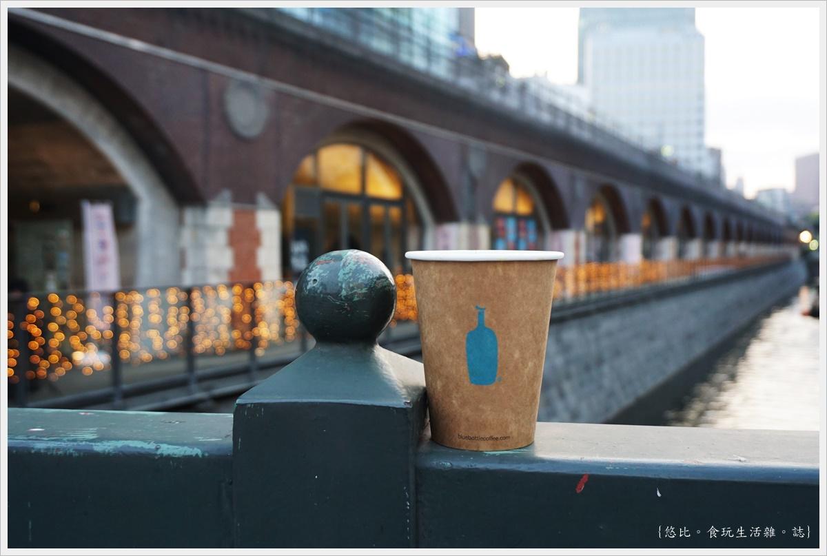 [東京|秋葉原。mAAch ecute神田萬世橋。Blue Bottle Coffee藍瓶咖啡]