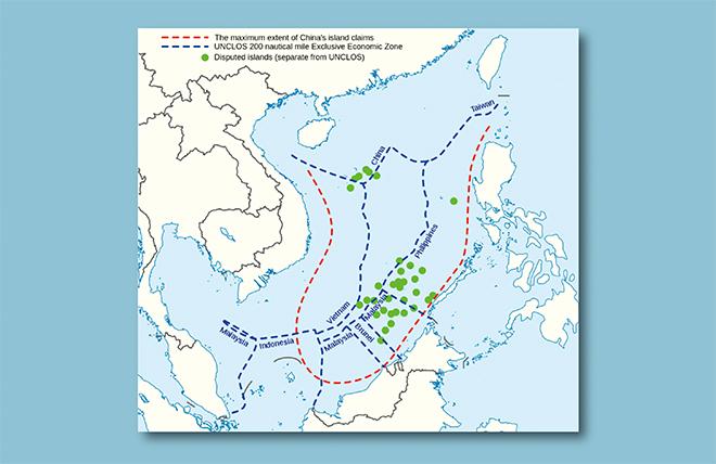 中国、南沙領有否定されず 仲裁...