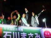 千代田区長選前夜、小池旋風止まず