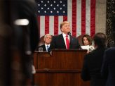 トランプ氏演説、国民大多数が支持