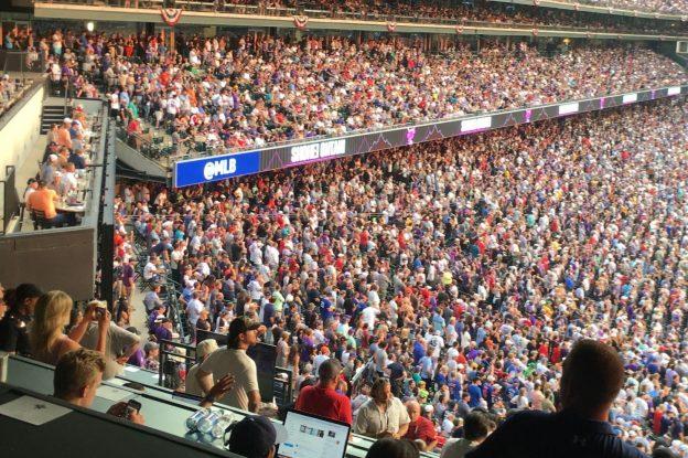 試合が行われたコロラド州・デンバーのCoors Field。「ホームラン・ダービー」の大谷の打席で満席5万人が総立ち、地元チームのヒーロー選手への声援かと思うくらいの歓声がスタジアムを支配する(撮影:筆者)