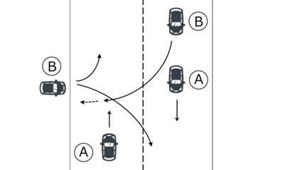 直線車と道路外車入車