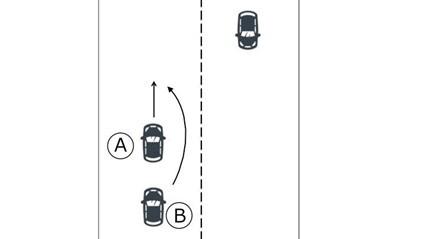 同一方向に進行する車同士
