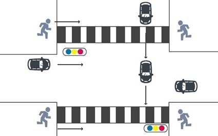 信号機が設置されている横断歩道2