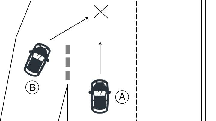 進入路からの進入の際の事故