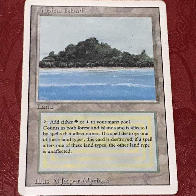 mtg Tropical Island 英語版