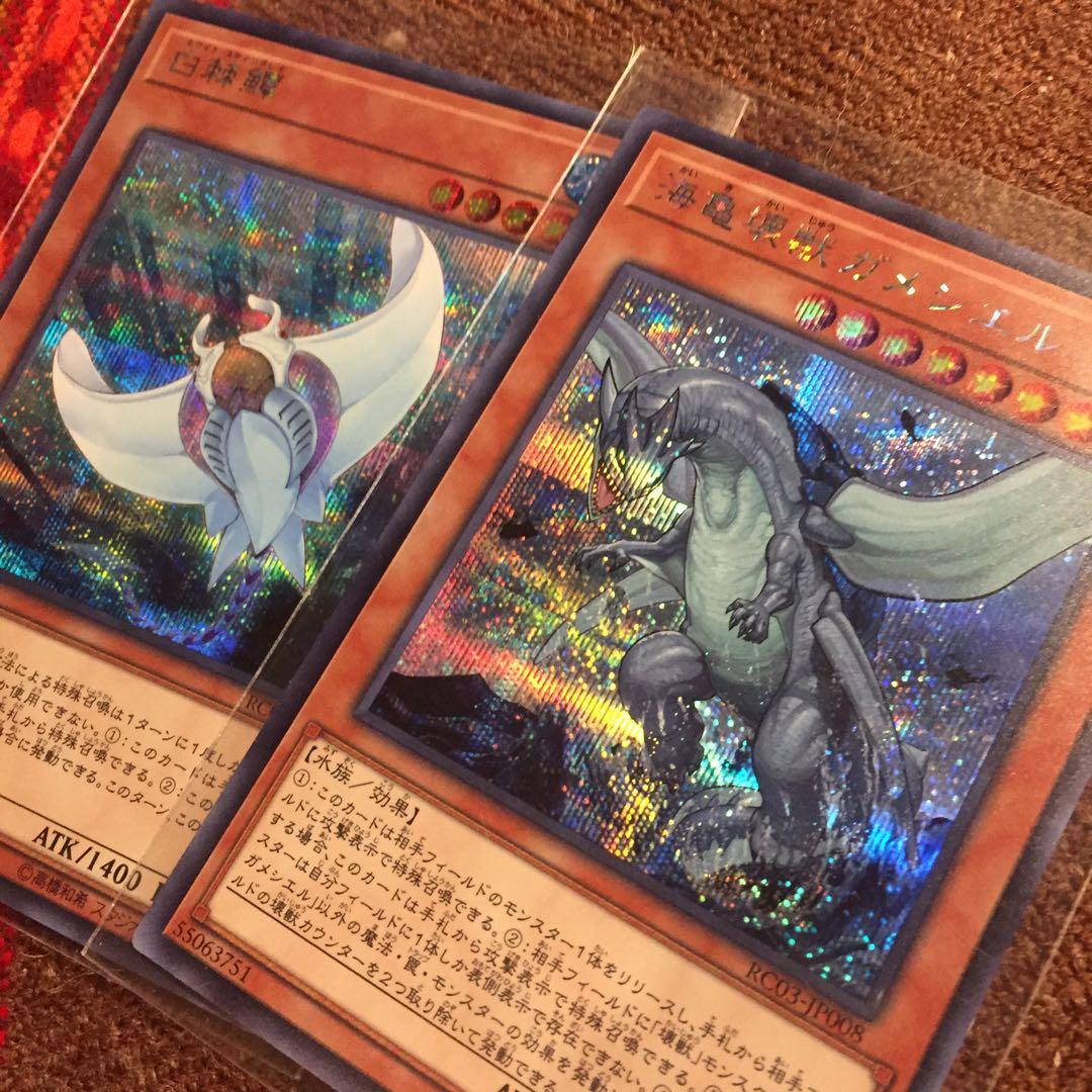 遊戯王OCG 白棘鱏 ガメシエル シク1枚づつセット レアコレ3