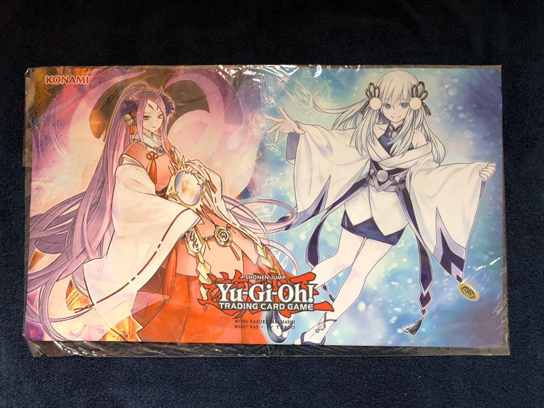 遊戯王 麗の魔妖-妲姫 氷の魔妖-雪女 プレイマット