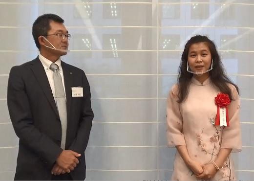 最優秀賞 ハ タイン ニャンさん・株式会社ツクイ 小野 幸二さん インタビュー