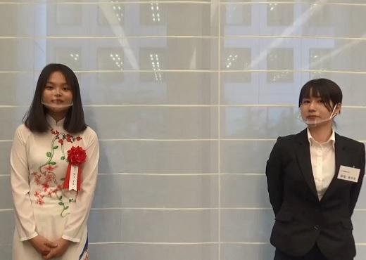 最優秀賞 レー ティ イエンさん・シバタ精機株式会社 新垣 美早季さん インタビュー