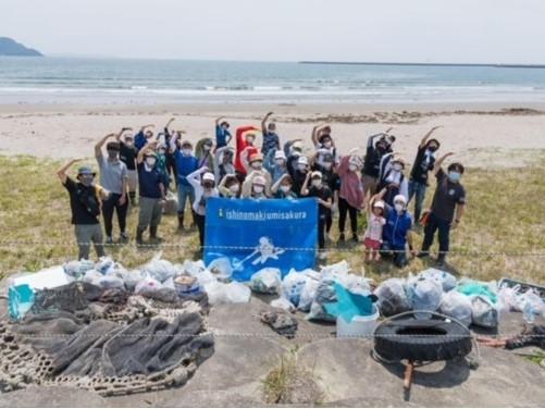 海岸の清掃活動に参加しました