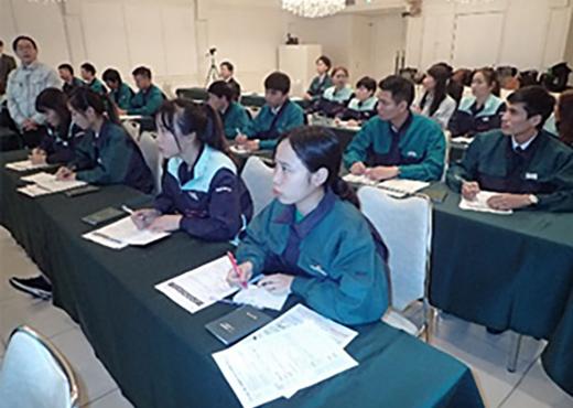 关于举行外国技能实习生跟进研修会