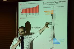 研究会「ニュースメディアとグラフィックス」アラン・スミス フィナンシャル・タイムズ データ可視化担当エディター 写真 5