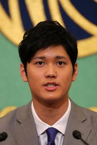 大谷翔平選手(北海道日本ハムファイターズ) 会見 写真 1