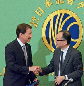 ハガティ 駐日米国大使 会見 写真 4