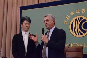 グランディ 国連難民高等弁務官 会見 写真 4