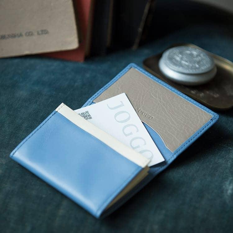 JOGGO LIMITED COLOR 2020  幸せの青、いつもあなたの手の中に。1・2月期間限定レザー『ジェイブルー』 本革名刺入れ
